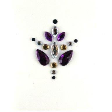 Face Jewels 001 Purple Silver