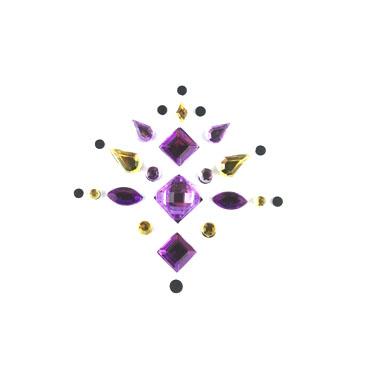 Face Jewels 002 Lilac Dark Purple