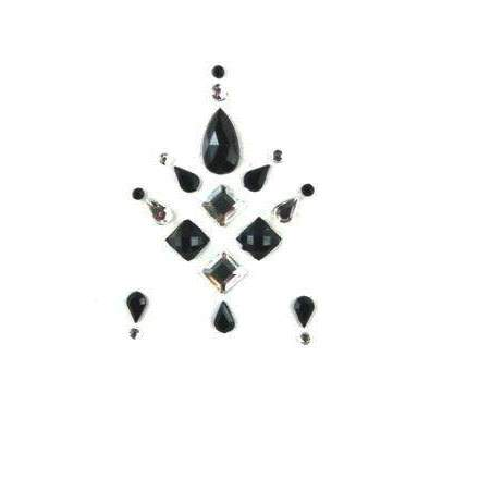Face Jewels 015 Black Silver