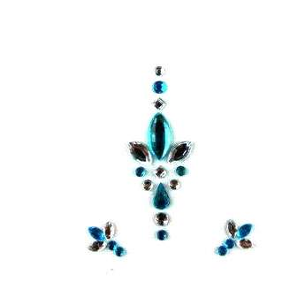 Face Jewels 018 Turquoise Silver