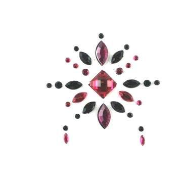 Face Jewels 019 Hot Pink Black