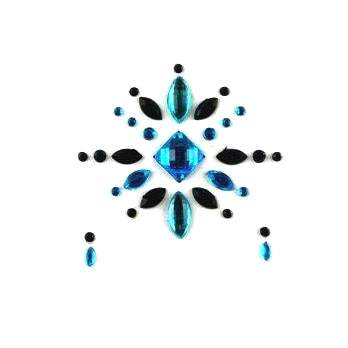 Face Jewels 019 Turquoise Black