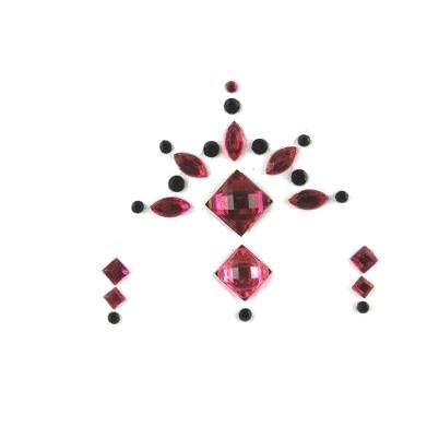 Face Jewels 020 Hot Pink Black