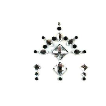 Face Jewels 020 Silver Black