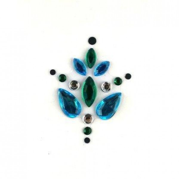 Face Jewels 001 Turquoise Dark Green