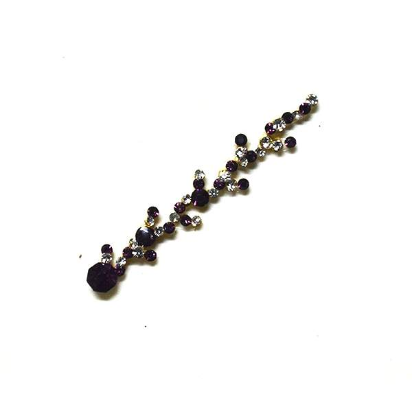 High End Bindis 023 Dark Purple Silver