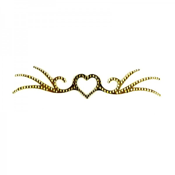 Crystal Arm Band 02 Gold