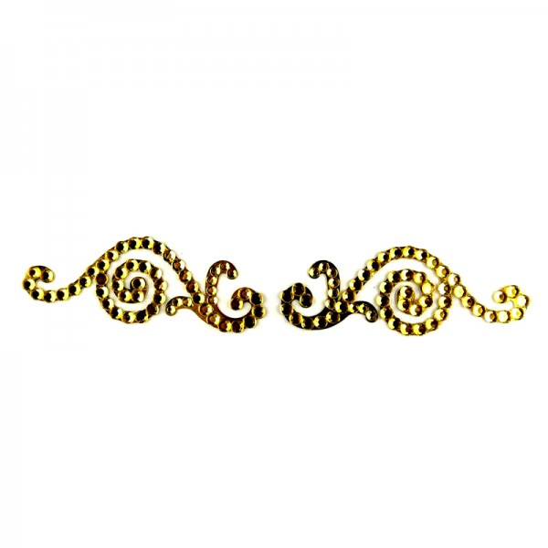 Crystal Arm Band 03 Gold