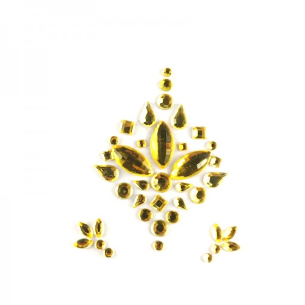 All gold face jewels 012