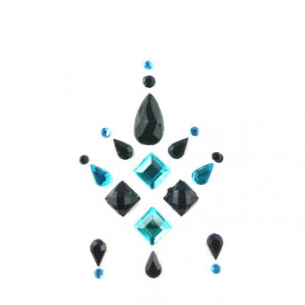 Face Jewels 015 Turquoise Black