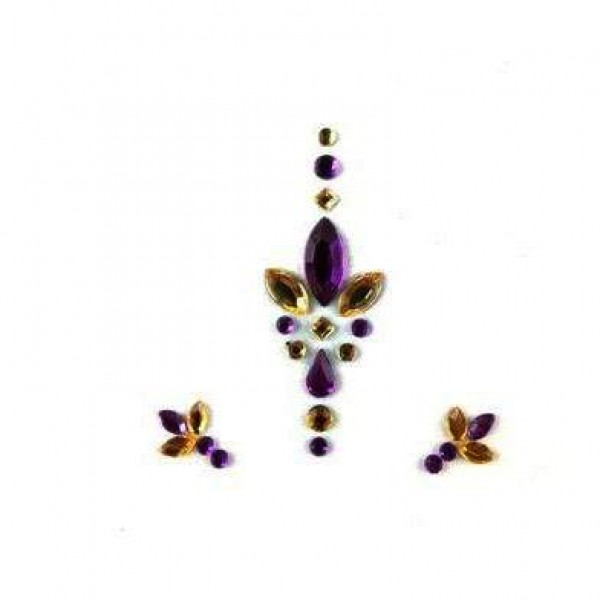 Face Jewels 018 Purple Gold