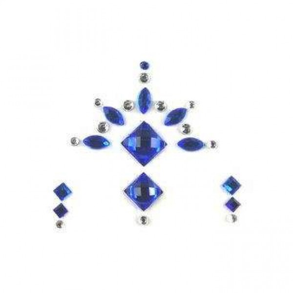 Face Jewels 020 Blue Silver