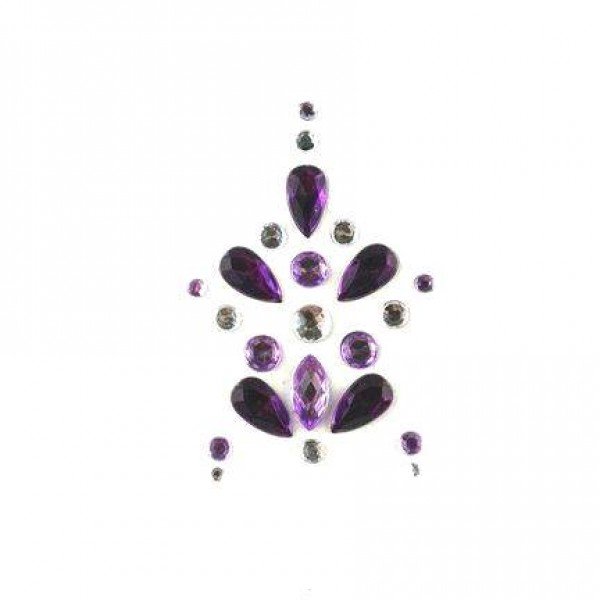 Face Jewels 022 Lilac Black Silver